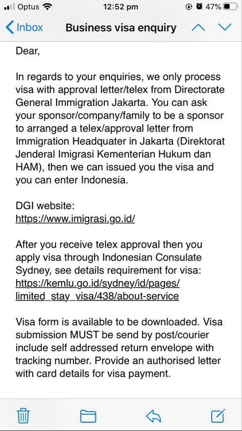 Indonesian Immigration Embassy
